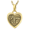 14k yellow gold petite heart jewelry personalized with actual handwriting