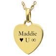 Wholesale 14K Yellow Gold Petite Heart Flat with Text Engraving