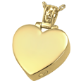 Wholesale Pet Cremation Jewelry: Filigree Bail Heart