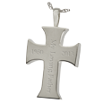 Wholesale Cremation Jewelry Men's Cross back shown engraved