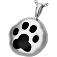 Wholesale Pet Cremation Jewelry: Hammered Paw Print Urn Pendant