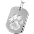Paw Print Dog Tag silver pet jewelry