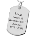 Wholesale Sterling Silver Dog Tag Flat with Text Engraving
