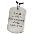 Wholesale Stainless Steel Dog Tag Flat with Text Engraving