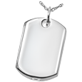 Wholesale Pet Cremation Jewelry: Dog Tag shown in silver