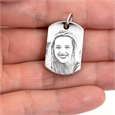 photo engraved jewelry in hand