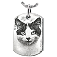 cat photo jewelry dog tag