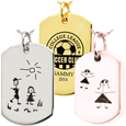 Wholesale personalized Dog Tag Jewelry front Drawing, Graphic & Handwriting