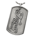 Add Your Logo Dog Tag in silver