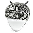 fingerprint back on guitar pick pendant