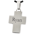 Wholesale Text Engraved Stainless Steel Cross Jewelry