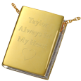Engraving shown on Wholesale Book Cremation Jewelry: The Sequel