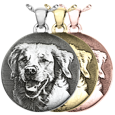 round necklace pendant with custom pet photo