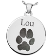Wholesale Silver Round Actual Pawprint Jewelry
