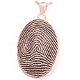Oval Full-coverage  Fingerprint Jewelry in rose gold