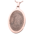 Rim fingerprint oval jewelry in rose gold