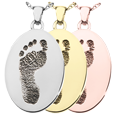 Wholesale B&B Flat Oval Footprint Jewelry in silver, yellow and rose gold