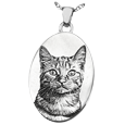 Oval Pet Photo Jewelry non ash holding silver