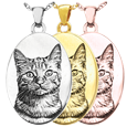 Wholesale B&B Oval Pet Photo Jewelry in silver and gold