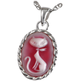 Wholesale Pet Cremation Jewelry: Pretty Kitty Cameo
