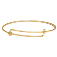 Expandable Bangle Bracelet in gold