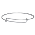 Expandable Bangle Bracelet in silver