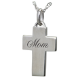 Wholesale Sterling Silver Petite Cross Flat with Text Engraving