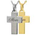 Wholesale Petite Cross Flat with Text Engraving in silver or gold precious metal