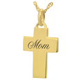 Wholesale 14K Yellow Gold Petite Cross Flat with Text Engraving