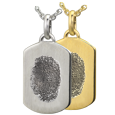 Wholesale Petite Dog Tag with Natural Fingerprint