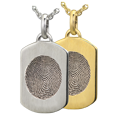 mini dog tag fingerprint jewelry