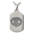 Wholesale Flat Petite Dog Tag Noseprint Jewelry in silver
