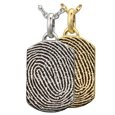 Wholesale Petite Dog Tag with Full-coverage Fingerprint