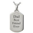 Wholesale Sterling Silver Petite Dog Tag Jewelry with Text Engraving