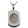 mini dog tag fingerprint jewelry holds ashes