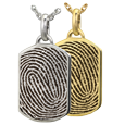 Wholesale Petite Dog Tag with Rim Fingerprint