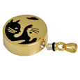 Wholesale Pet Cremation Jewelry: Kitty Yin Yang urn opening shown