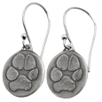 3D paw print earrings