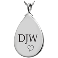 Wholesale Sterling Silver Teardrop Flat with Text Engraving