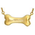 Wholesale Pet Cremation Jewelry Gold Dog Bone engraved with name