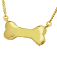 Wholesale Pet Cremation Jewelry: Dog Bone in gold