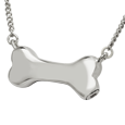 Wholesale Pet Cremation Jewelry: Dog Bone in silver