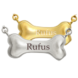 Wholesale Pet Cremation Jewelry: Dog Bone in silver and gold