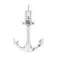 anchor cremation jewelry in silver