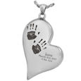 silver handprint jewelry with discreet chamber