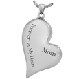 text engraved silver heart chamber jewelry