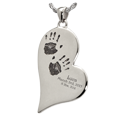 2 handprint jewelry with engraved name, date & weight
