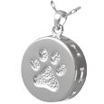 Wholesale Pet Cremation Jewelry: Paw Print and Bones Urn Pendant