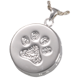 Additional view of Paw Print and Bones Urn Pendant