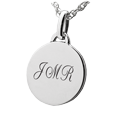 Wholesale Sterling Silver Petite Round Flat with Text Engraving